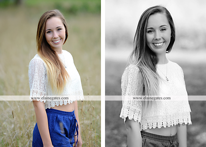 Mechanicsburg Central PA senior portrait photographer outdoor female girl formal wildflowers road field water stream creek bridge stone wall tree shore sister mother rocks fence grass mr 04