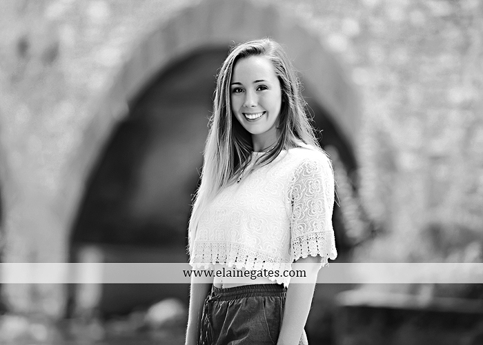 Mechanicsburg Central PA senior portrait photographer outdoor female girl formal wildflowers road field water stream creek bridge stone wall tree shore sister mother rocks fence grass mr 05