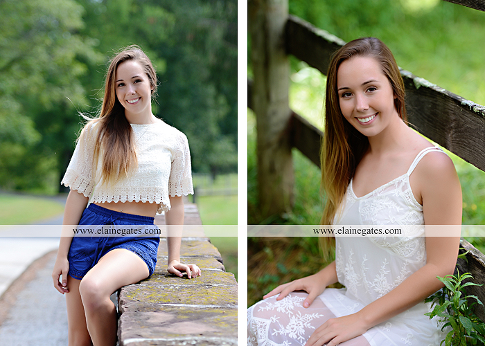Mechanicsburg Central PA senior portrait photographer outdoor female girl formal wildflowers road field water stream creek bridge stone wall tree shore sister mother rocks fence grass mr 07