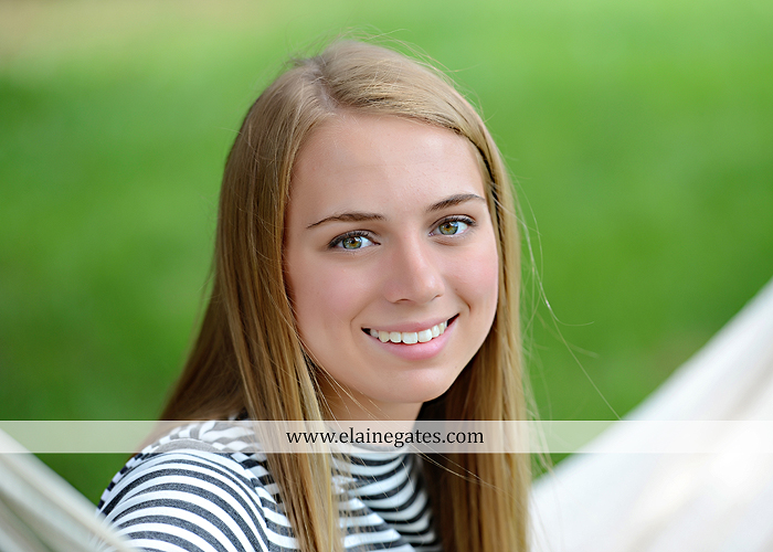Mechanicsburg Central PA senior portrait photographer outdoor female girl hammock tree rustic bridge road wildflowers rocks water stream creek covered bridge messiah college wood beams path sc 01
