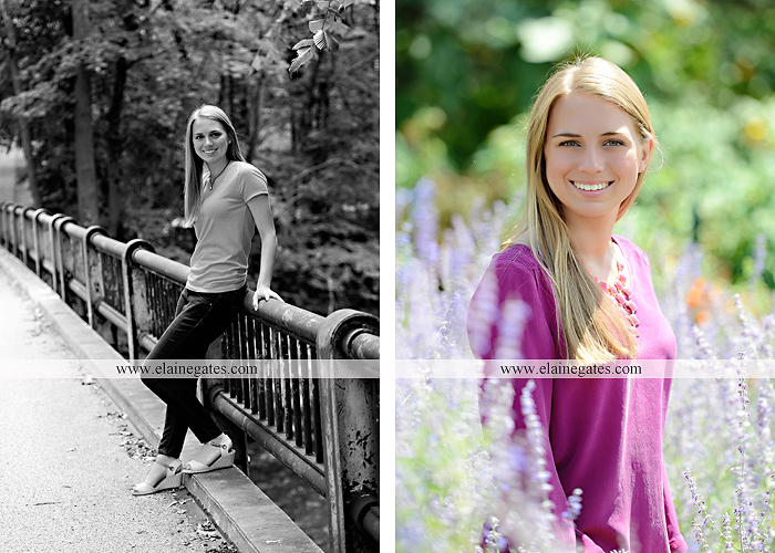 Mechanicsburg Central PA senior portrait photographer outdoor female girl hammock tree rustic bridge road wildflowers rocks water stream creek covered bridge messiah college wood beams path sc 03