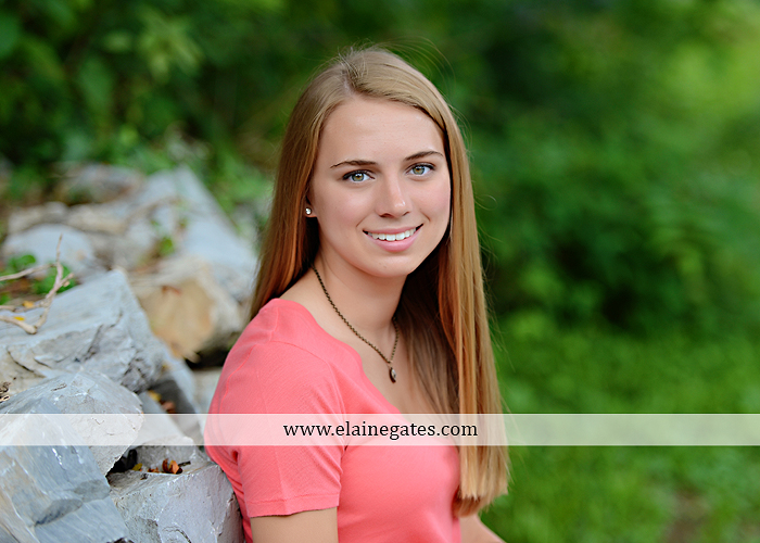 Mechanicsburg Central PA senior portrait photographer outdoor female girl hammock tree rustic bridge road wildflowers rocks water stream creek covered bridge messiah college wood beams path sc 05