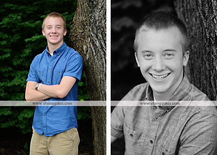 Mechanicsburg Central PA senior portrait photographer outdoor male guy tree grass dog road sister field water stream creek fence american flag usa wrestling singlet zk 01