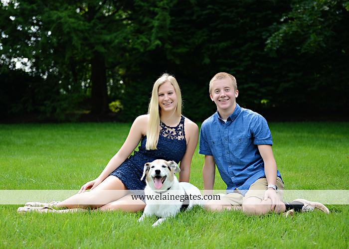 Mechanicsburg Central PA senior portrait photographer outdoor male guy tree grass dog road sister field water stream creek fence american flag usa wrestling singlet zk 02