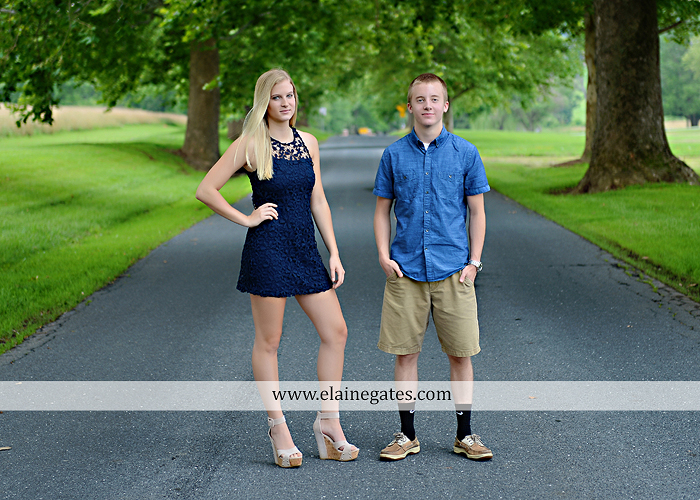 Mechanicsburg Central PA senior portrait photographer outdoor male guy tree grass dog road sister field water stream creek fence american flag usa wrestling singlet zk 05