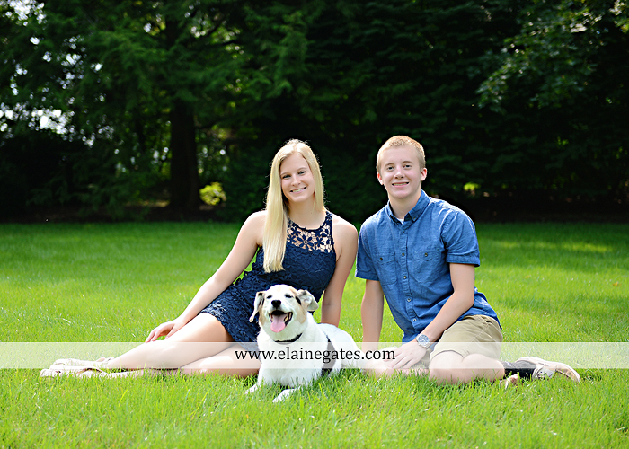 Mechanicsburg Central PA senior portrait photographer outdoor tree bench grass brother dog hammock road field water stream creek american flag usa barn wildflowers tire weights jump rope nk 03
