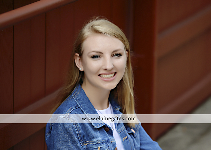 Mechanicsburg Central PA senior portrait photographer outdoor water stream creek covered bridge messiah college wooden beams field rustic bridge road wildflowers hammock swing formal es 02