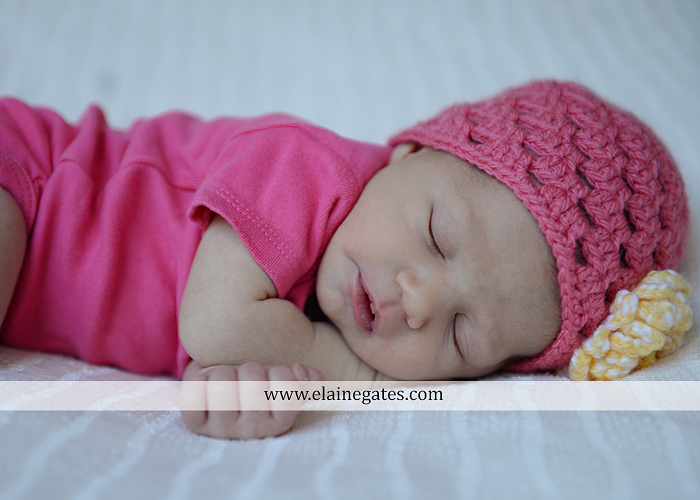 Mechanicsburg Central PA newborn baby portrait photographer girl sleeping indoor blanket bow family grass trees fence road knit hat outdoor sister mother father ah 13