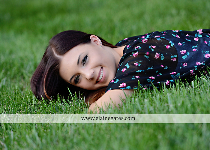 Mechanicsburg Central PA senior portrait photographer outdoor female girl grass bench hammock brick wall urban steps doorway road field fence water stream creek rock wildflowers cw 03