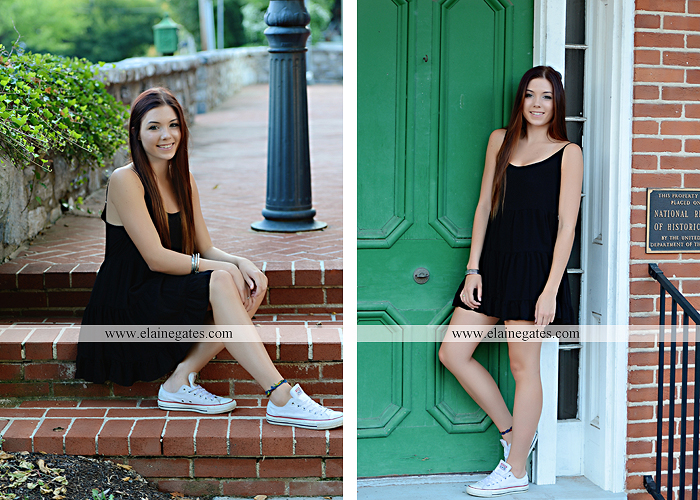 Mechanicsburg Central PA senior portrait photographer outdoor female girl grass bench hammock brick wall urban steps doorway road field fence water stream creek rock wildflowers cw 05
