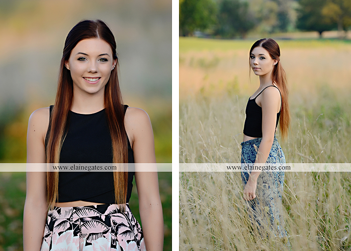 Mechanicsburg Central PA senior portrait photographer outdoor female girl grass bench hammock brick wall urban steps doorway road field fence water stream creek rock wildflowers cw 07