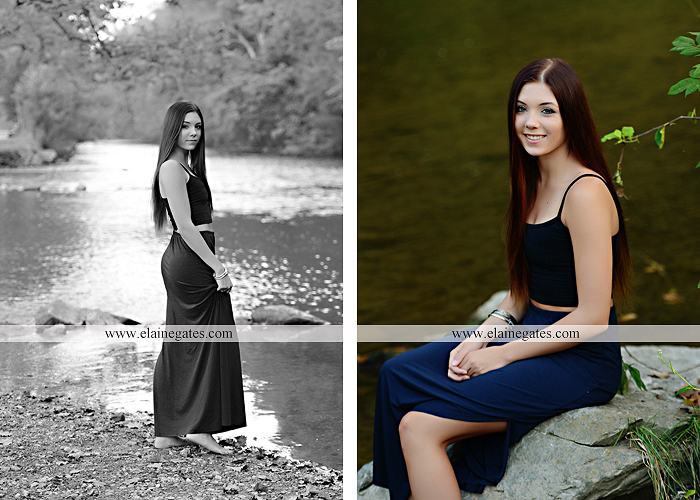 Mechanicsburg Central PA senior portrait photographer outdoor female girl grass bench hammock brick wall urban steps doorway road field fence water stream creek rock wildflowers cw 09