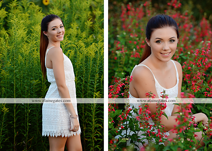 Mechanicsburg Central PA senior portrait photographer outdoor female girl grass bench hammock brick wall urban steps doorway road field fence water stream creek rock wildflowers cw 10