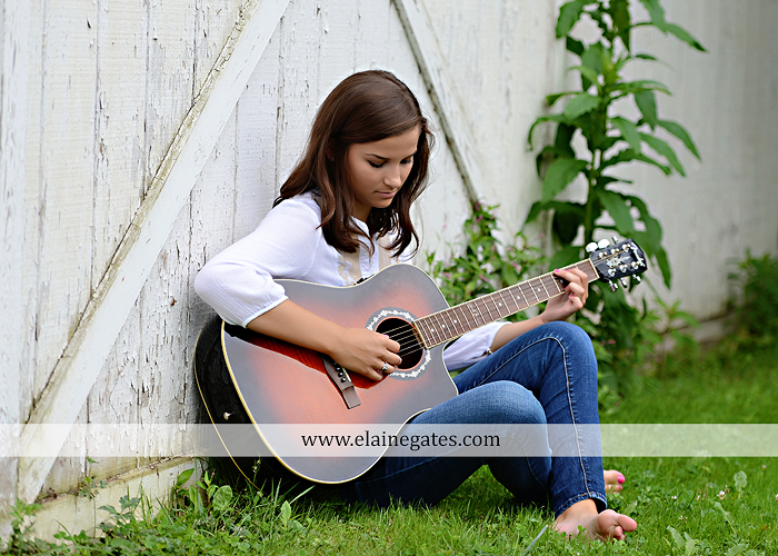 Mechanicsburg Central PA senior portrait photographer outdoor female girl hammock swing wildflowers brick wall brick steps grass guitar barn water sh 07