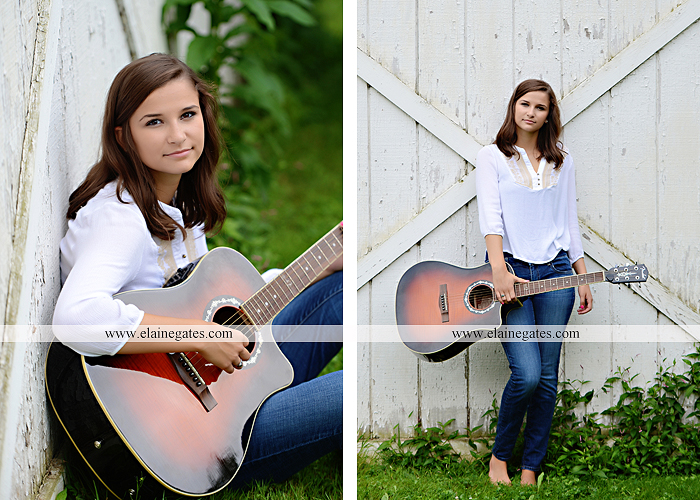 Mechanicsburg Central PA senior portrait photographer outdoor female girl hammock swing wildflowers brick wall brick steps grass guitar barn water sh 08