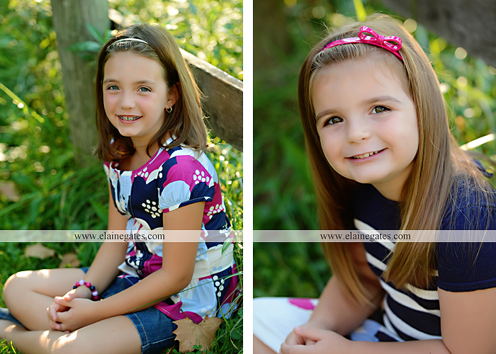 Mechanicsburg Central PA kids children portrait photographer outdoor girls sisters fence grass field trees water stream creek rocks road hay bail sh 02