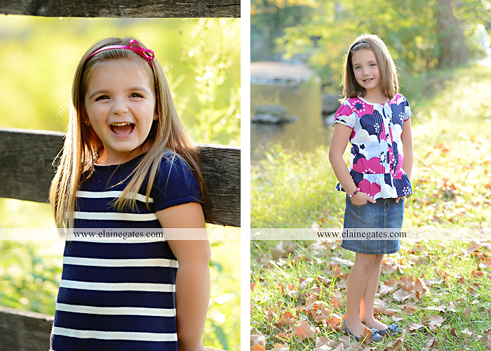 Mechanicsburg Central PA kids children portrait photographer outdoor girls sisters fence grass field trees water stream creek rocks road hay bail sh 04