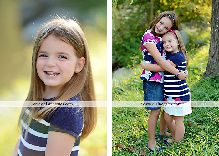 Mechanicsburg Central PA kids children portrait photographer outdoor girls sisters fence grass field trees water stream creek rocks road hay bail sh 05