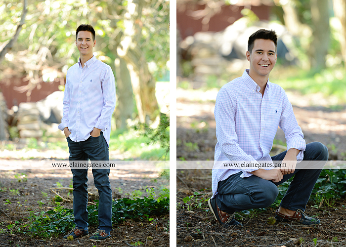 Mechanicsburg Central PA senior portrait photographer outdoor guy male formal trees grass wood stack forest bench nd 05