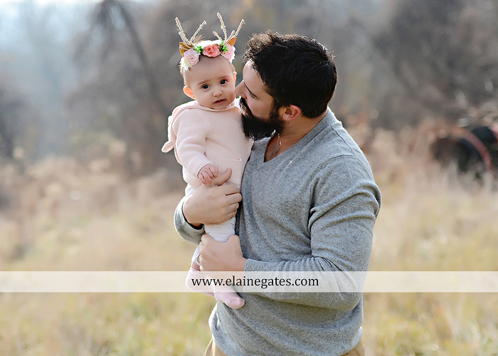 Mechanicsburg Central PA family portrait photographer outdoor girl toddler baby  mother father kiss kids field barn trees ar 05