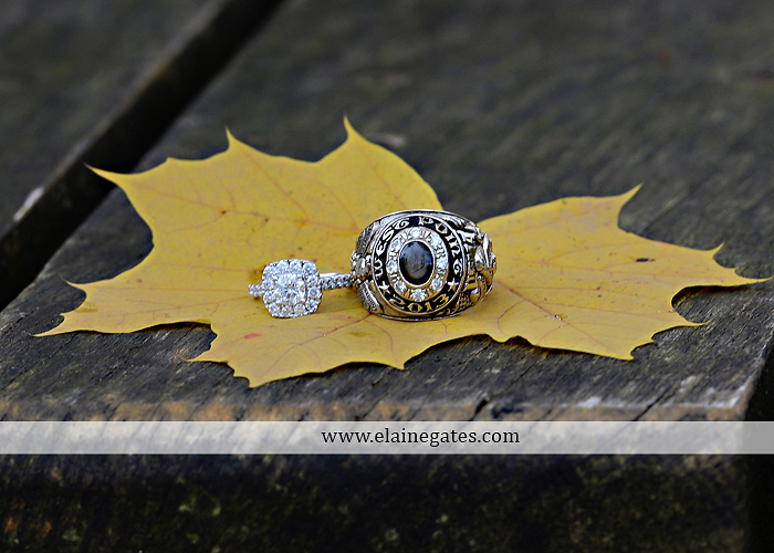 Mechanicsburg Central PA engagement portrait photographer outdoor field road path fall autumn water creek stream rings kiss hugs holding hands mr 9