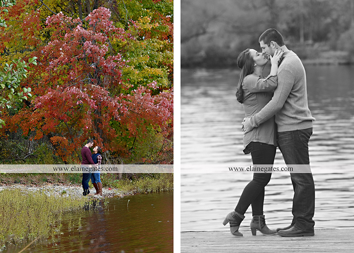 Mechanicsburg Central PA engagement portrait photographer outdoor pinchot state park water lake boat dock trees grass field path kiss aw 05