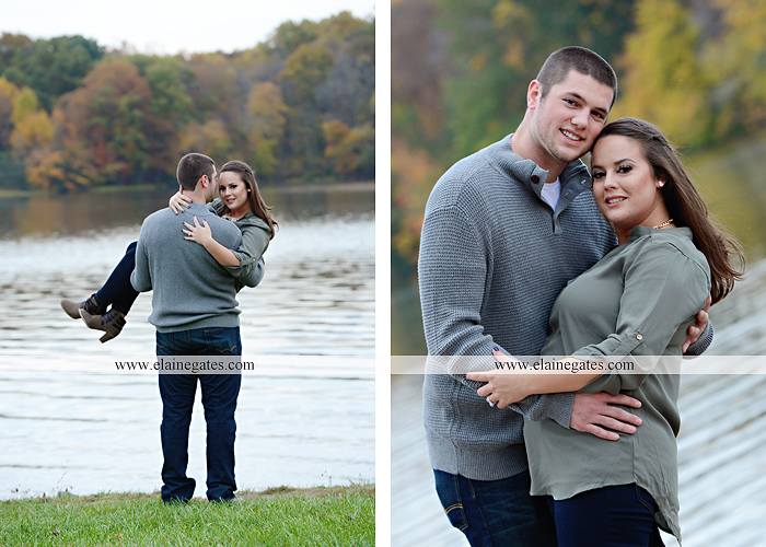 Mechanicsburg Central PA engagement portrait photographer outdoor pinchot state park water lake boat dock trees grass field path kiss aw 07