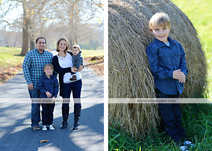 Mechanicsburg Central PA family portrait photographer outdoor boy brothers sons father mother husband wife road fence leaves water stream creek hay bale shore rocks es 05