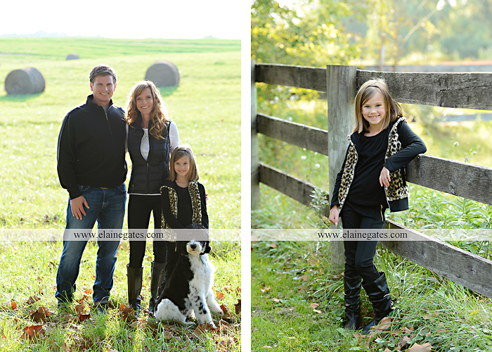 Mechanicsburg Central PA family portrait photographer outdoor girl sisters mother father husband wife road field fence hay bale dog water stream creek leaves dy 4