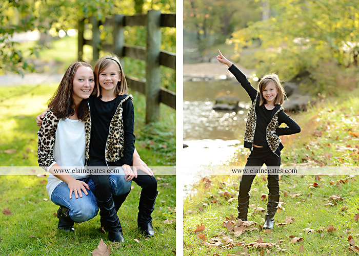 Mechanicsburg Central PA family portrait photographer outdoor girl sisters mother father husband wife road field fence hay bale dog water stream creek leaves dy 5