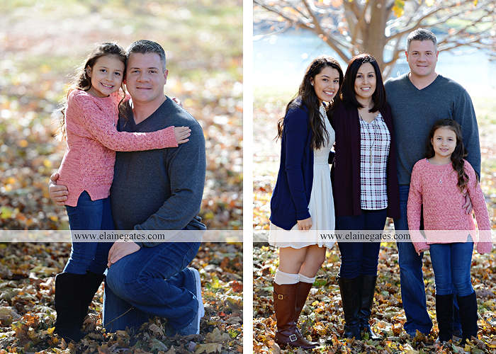 Mechanicsburg Central PA family portrait photographer outdoor girl sisters mother father leaves boiling springs lake trees wood bridge grass stone wall cc 02
