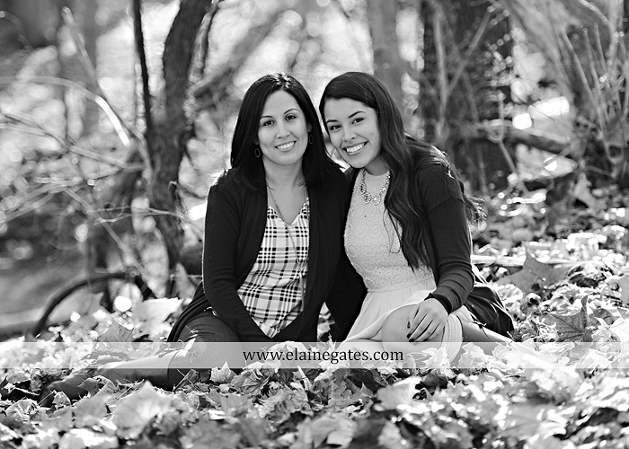 Mechanicsburg Central PA family portrait photographer outdoor girl sisters mother father leaves boiling springs lake trees wood bridge grass stone wall cc 07