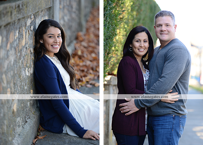 Mechanicsburg Central PA family portrait photographer outdoor girl sisters mother father leaves boiling springs lake trees wood bridge grass stone wall cc 14