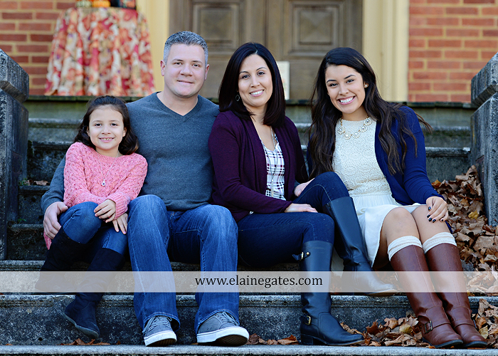 Mechanicsburg Central PA family portrait photographer outdoor girl sisters mother father leaves boiling springs lake trees wood bridge grass stone wall cc 15