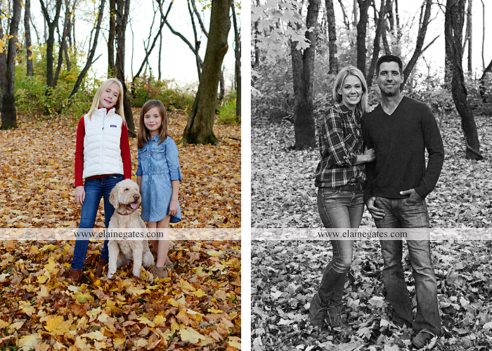 Mechanicsburg Central PA family portrait photographer outdoor girls daughters sisters dog husband wife mother father wood pile leaves trees eg 4