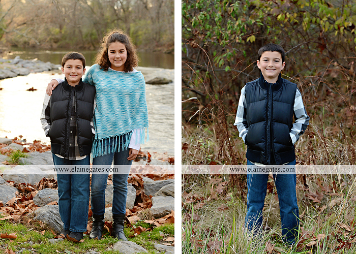 Mechanicsburg Central PA kids children portrait photographer outdoor boy girl brother sister water creek stream covered bridge messiah college leaves rocks wooden beams pittsburgh steelers path lg 2