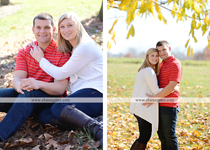 Mechanicsburg Central PA engagement portrait photographer outdoor barn fence field trees leaves dog hockey jersey baseball jersey new york yankees washington capitals bride groom mh 6