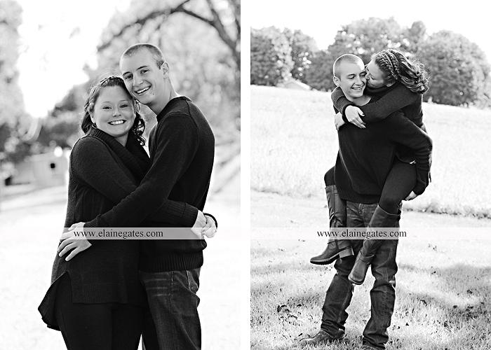 Mechanicsburg Central PA engagement portrait photographer outdoor barn grass trees field truck pumpkin silo path hug kiss ring sm 9