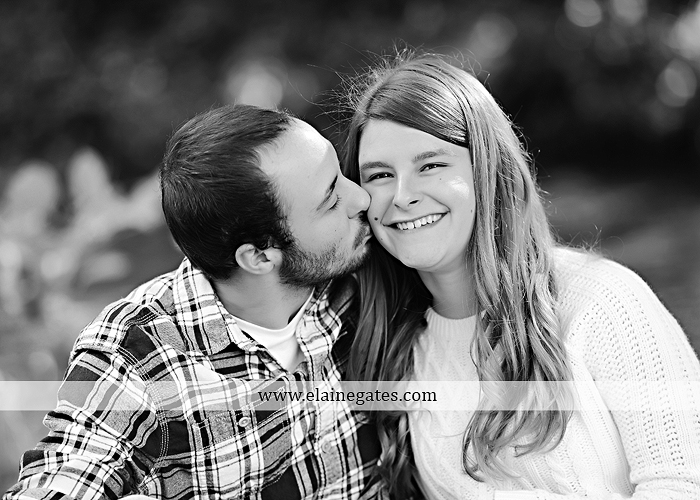 Mechanicsburg Central PA engagement portrait photographer outdoor boiling springs lake water grass trees leaves gazebo ducks ivy stone wall path heart wreath ra 2
