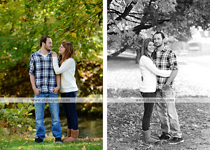 Mechanicsburg Central PA engagement portrait photographer outdoor boiling springs lake water grass trees leaves gazebo ducks ivy stone wall path heart wreath ra 3