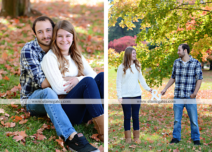 Mechanicsburg Central PA engagement portrait photographer outdoor boiling springs lake water grass trees leaves gazebo ducks ivy stone wall path heart wreath ra 5