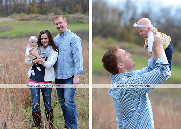 Mechanicsburg Central PA family portrait photographer outdoor baby girl daughter mother father grass trees water stream creek field leaves rm 01