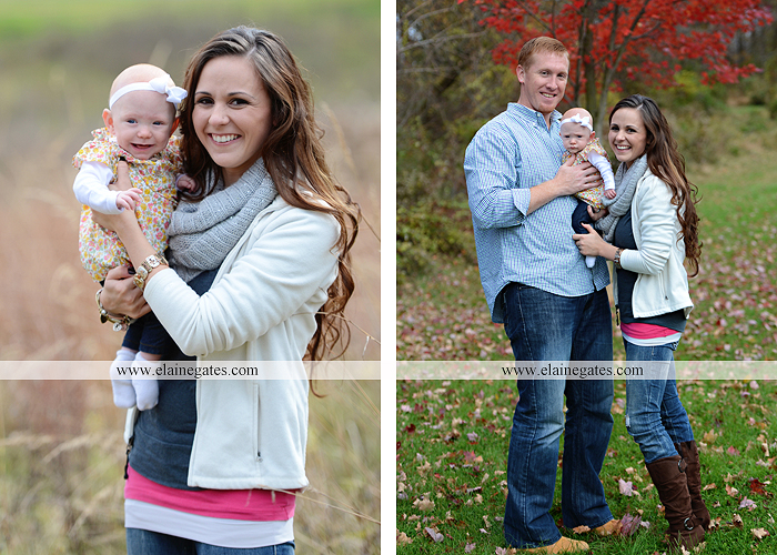 Mechanicsburg Central PA family portrait photographer outdoor baby girl daughter mother father grass trees water stream creek field leaves rm 03