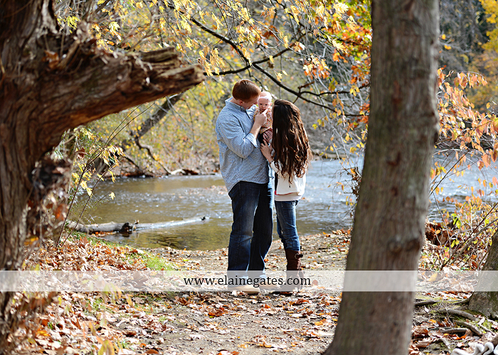 Mechanicsburg Central PA family portrait photographer outdoor baby girl daughter mother father grass trees water stream creek field leaves rm 06