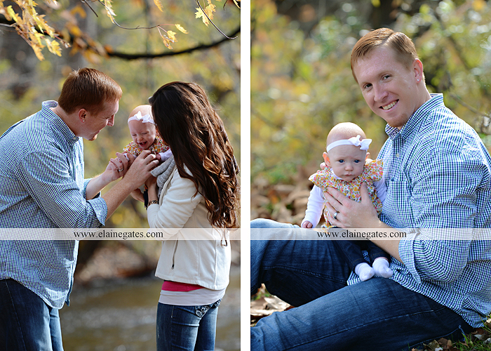 Mechanicsburg Central PA family portrait photographer outdoor baby girl daughter mother father grass trees water stream creek field leaves rm 09
