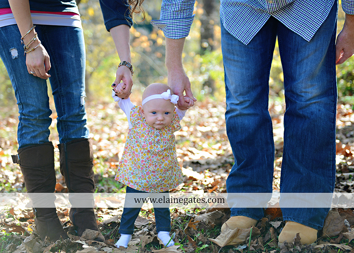Mechanicsburg Central PA family portrait photographer outdoor baby girl daughter mother father grass trees water stream creek field leaves rm 10