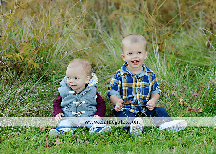 Mechanicsburg Central PA family portrait photographer outdoor son brothers mother father grass trees water stream creek field rocks nk 07