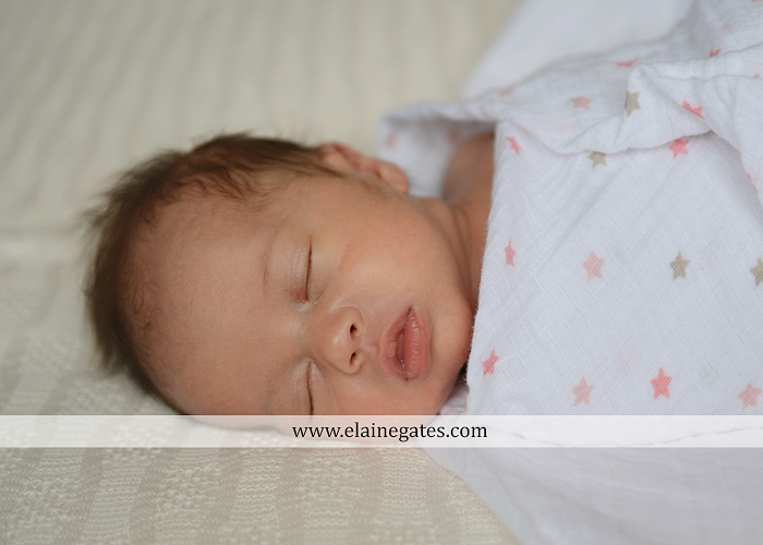 Mechanicsburg Central PA newborn baby portrait photographer girl sleeping indoor blanket bow knit hat mother father bowl basket tutu je 2