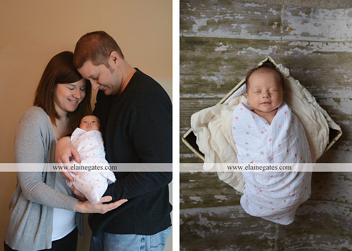 Mechanicsburg Central PA newborn baby portrait photographer girl sleeping indoor blanket bow knit hat mother father bowl basket tutu je 7