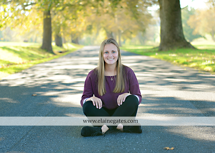 Mechanicsburg Central PA senior portrait photographer outdoor girl female road trees field water stream creek fall fence kg 3